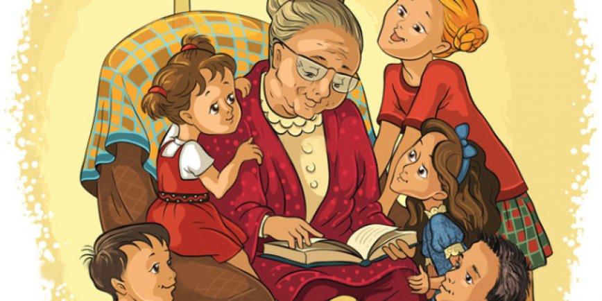 Картинки бабушка и внук нарисованные